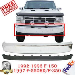 Front Bumper Chrome Steel Lower Valance For 92 96 F 150 F 250 1997 F 350