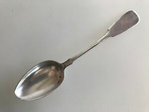 Antique Sterling Silver Russian Spoon Engraved 84 Monogram Fiddle Shape Old