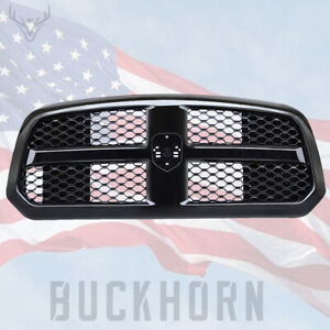 For Dodge Ram 1500 2014 2017 Front Bumper Grille Mesh Glossy Black Honeycomb