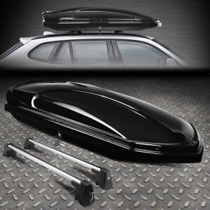 For 10 15 Bmw X1 Roof Top Cargo Storage Luggage Box Case W Aluminum Cross Bar