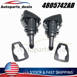 For Chrysler Dodge Ram Charger New 2x Windshield Washer Wiper Spray Fluid Nozzle