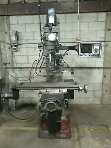 Used Alliant 2 axis Cnc Prototrak Knee Mill W 3rd Axis Readout Accessories um