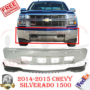 Front Bumper Chrome Steel Lower Valance For 2014 2015 Chevy Silverado 1500