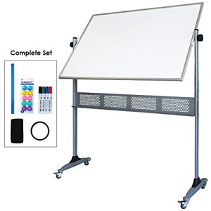 Double sided Magnetic Mobile Whiteboard Large Rolling Dry Erase Board On Wheels
