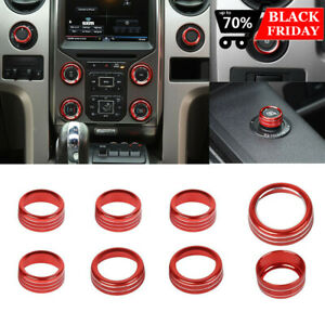Ac Cd Switch 4wd Release Mirrors Control Knob Ring Trim For Ford F150 2013 2014