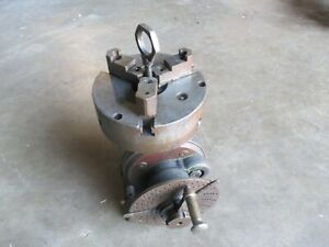 Used Dividing Head With Cushman 8 Chuck Indexing Plate km