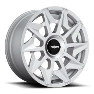 19x8 5 Rotiform R124 Cvt 5x112 Et45 Silver Wheels Set Of 4