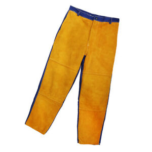 Cowhide Leather Welding Pants Protective Soldering Clothes Heat Resistant