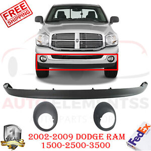 Front Bumper Lower Valance Textured Fog Bezel For 02 09 Dodge Ram 1500 3500
