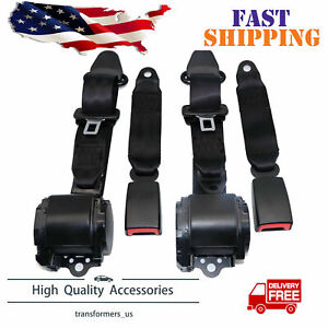 2 Set Universal 3 Point Retractable Seat Belts For Jeep Cj Yj Wrangler 1982 1995