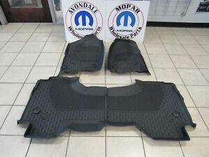 Dodge Ram 1500 Dt All Weather Slush Mats Black Quad Cab Rubber Mats Mopar