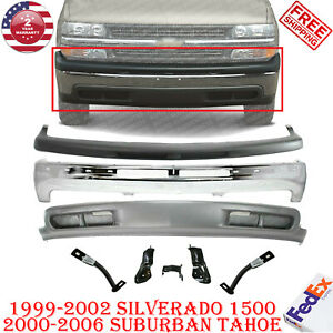 Front Bumper Chrome Up Low Cover Brk For 99 02 Silverado 1500 00 06 Tahoe