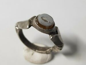 Roman Silver Ring With Intaglio 2nd 3rd Century Ad