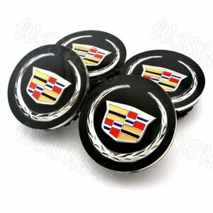 4pc Set Black Wheel Center Hub Caps Cadillac Ats Cts Dts Srx Sts Xlr Xts 2 5 8
