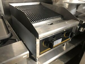 L j Gcb18 18 Charcoal Char Broiler Grill Nat Gas Lava Rock Nsf Approved New