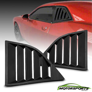Fit 2008 2017 Dodge Challenger Gt Lambo Style Glossy Black Side Window Louvers