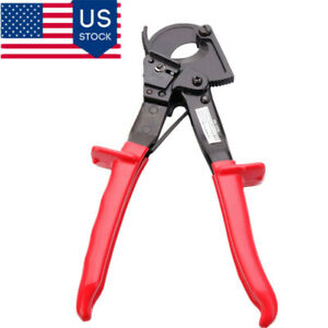 High carbon Steel Portable Alum Copperwire Cut Ratchet Wheel Style Cable Cutter