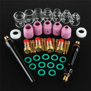 41 11pcs Tig Welding Torch Stubby Gas Lens Pyrex Glass Cup Kit For Wp 17 18 26