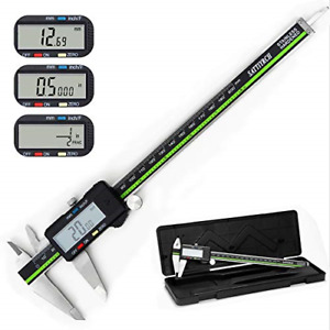 Digital Caliper Stainless Steel Body With Large Lcd Screen Millimeter Fractions