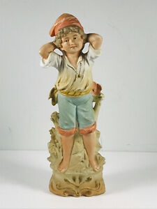 Antique German Porcelain Bisque Statue Pirate Boy 11023 Chm Oed Marked