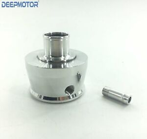Billet Aluminum Breathers Push In Style Valve Cover Breather Round W Pcv Finned