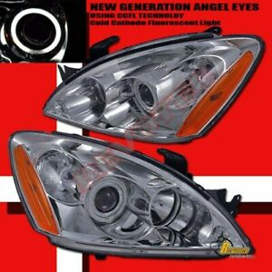 04 05 06 Mitsubishi Lancer Ralliart Ccfl Halo Angel Eye Projector Headlights