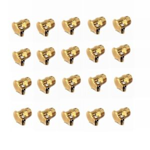 20pcs M6x1mm Brass Grease Oil Cup Oiler Spring Flip Cap Fit For Hit Miss Engine