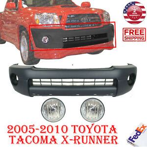 Front Bumper Cover Textured Fog Lights For 2005 2011 Toyota Tacoma X runner