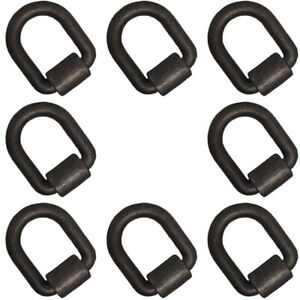 8 Forged 1 Weld On D ring Trailer Truck Chain Tie Down D Rings With Bracket