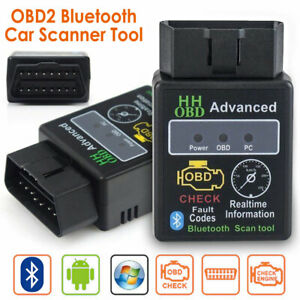 Elm327 Hh Obd2 Obdii Car Auto Bluetooth Diagnostic Scan Tool Interface Scanner