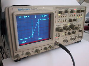 Freshly Calibrated Tektronix 2465a 350mhz 4 Channel Portable Analog Oscilloscope
