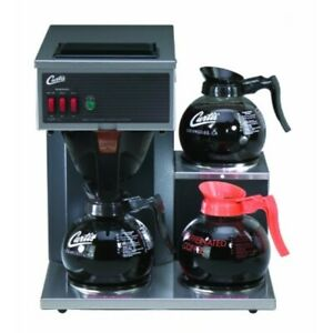 Wilbur Curtis Commercial Pourover Coffee Brewer 64 Oz Coffee Brewer 3 Station