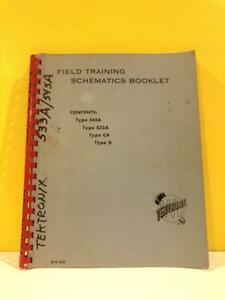 Tektronix 070 250 Type 545a 533a Ca D Field Training Schematic Booklet