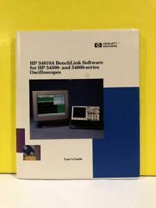 Hp 34810 90001 34810a Benchlink Software For 54500 54600 Series User s Guide