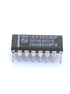 2 X Philips Hef4528bp Ic integrated Circuit Dip 16 Pins New