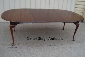 60335 Solid Cherry Dining Table W 2 Leafs Top 44 X 90
