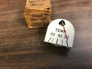 1947 1948 Willys Overland Jeepster Jeep Temperature Gauge Nos King Seely Corp