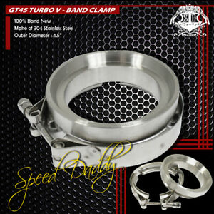Gt45 3 25 Stainless Steel Turbo Exhaust Downpipe V Band Clamp With Flange