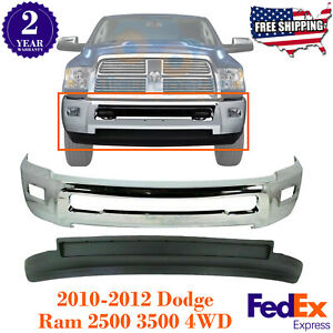 Front Bumper Chrome Steel Valance Textured For 10 2012 Dodge Ram 2500 3500 4wd