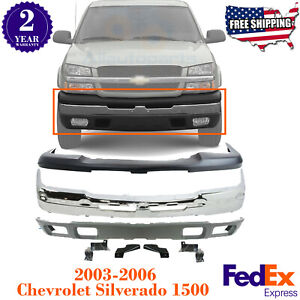 Front Bumper Chrome Steel Upper Valance Brackets For 03 06 Chevy Silverado 1500