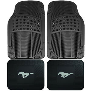 4pc Front Rear Car Truck All Weather Rubber Floor Mats Set Ford Mustang Utility