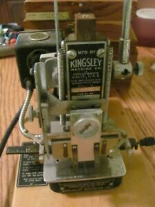 Kingsley Two Line Hot Foil Stamping Machine Model M 60 5 Boxes Of Accessories
