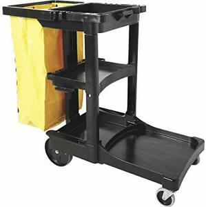 New Rubbermaid Janitor Cleaning Cart Truck 2000 Model Number Fg617388bla