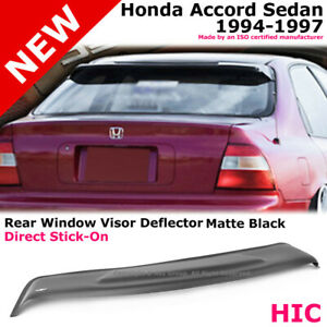 Smoke Rear Roof Sun Window Visor Spoiler For Honda Accord 94 97 Sedan 4 Door