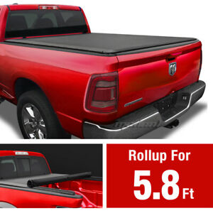 Premium Roll Up Tonneau Cover For 09 18 Ram 1500 19 20 Classic 5 8ft 69 6in Bed