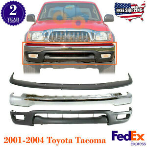 Front Chrome Steel Bumper Upper Cover Valance For 2001 2004 Toyota Tacoma