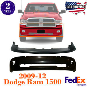 Front Bumper Primed Steel Upper Cover For 2009 2012 Dodge Ram 1500