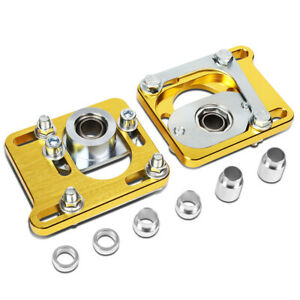 Fit 94 04 Ford Mustang 2 5 Adjustable Alignment Camber Caster Plates Gold