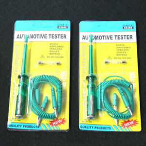 Car Voltage Circuit Tester For 6 12 24v Dc System Probe Continuity Test Light Us