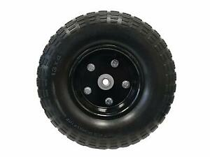 13 Flat Free Hand Truck Tire And Wheel With 5 8 Center Shaft Hole